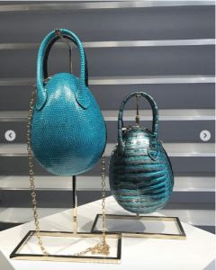 Louis Vuitton Blue Python and Crocodile Egg Bags - Spring 2019