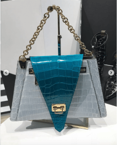 Louis Vuitton Blue/Gray Crocodile Flap Bag - Spring 2019