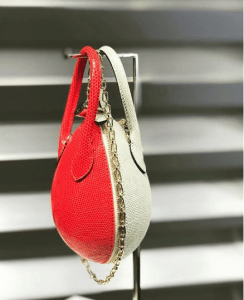 Louis Vuitton Red/White Python Egg Bag - Spring 2019