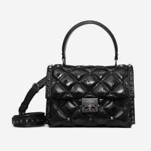Valentino Black Ayers Candystud Top Handle Bag