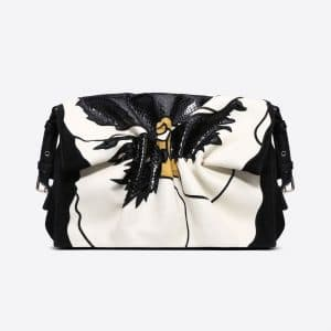 Valentino Black Bloomy Flower Crossbody Bag