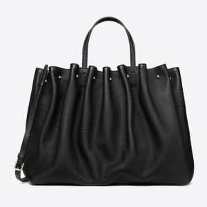 Valentino Black Bloomy Tote Bag