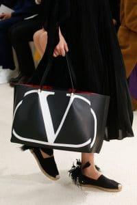 Valentino Black Logo Tote Bag - Spring 2019
