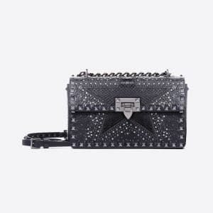 Valentino Black Punk Star Sliding Chain Bag