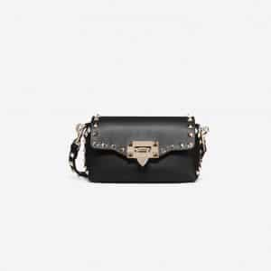 Valentino Black Rockstud Mini Crossbody Bag