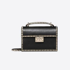 Valentino Black Rockstud No Limit Shoulder Bag