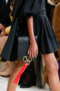 Valentino Black Saddle Bag - Spring 2019