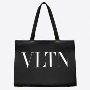 Valentino Black VLTN Tote Bag