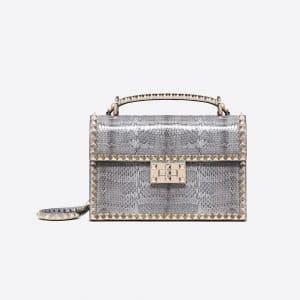 Valentino Dark Blue Ayers Rockstud No Limit Shoulder Bag