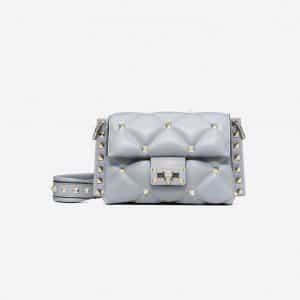Valentino Dark Blue Mini Candystud Crossbody Bag