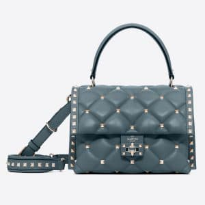Valentino Gray Candystud Top Handle Bag