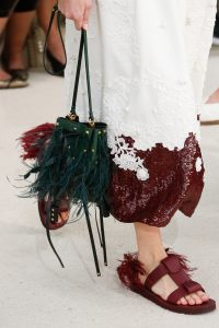 Valentino Green Fringed Mini Bucket Bag 2 - Spring 2019