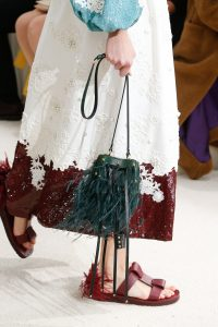 Valentino Green Fringed Mini Bucket Bag - Spring 2019