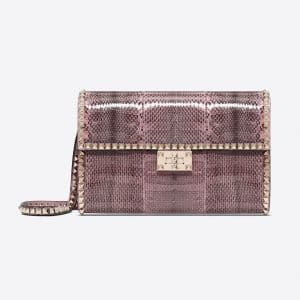 Valentino Pastel Pink Ayers Rockstud No Limit Clutch Bag