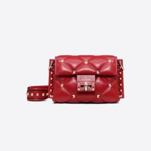 Valentino Red Mini Candystud Crossbody Bag