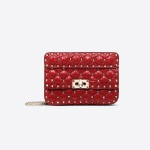Valentino Rosso Valentino Moncler Quilted Nylon Small Rockstud Spike Bag