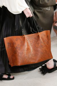 Valentino Tan Embossed Tote Bag - Spring 2019
