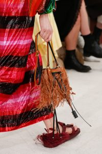 Valentino Tan Fringed Mini Bucket Bag - Spring 2019