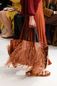 Valentino Tan Fringed Tote Bag - Spring 2019