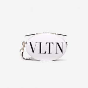 Valentino White VLTN Crossbody Bag