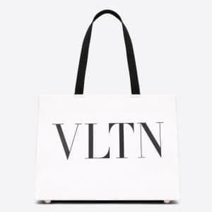Valentino White VLTN Tote Bag
