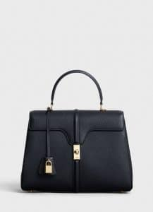 Celine Black Grained Calfskin Medium 16 Bag