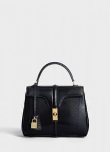 Celine Black Lizard Small 16 Bag