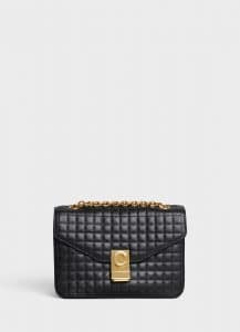 Celine Black Quilted Calfskin Medium C Bag