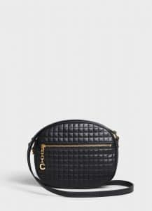 Celine Black Quilted Calfskin Medium C Charm Bag