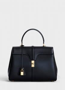 Celine Black Satinated Calfskin Medium 16 Bag
