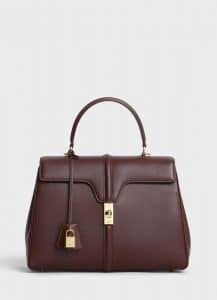 Celine Brown Satinated Calfskin Medium 16 Bag