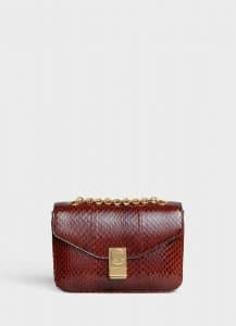 Celine Brown Watersnake Medium C Bag