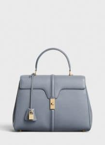 Celine Medium Grey Grained Calfskin Medium 16 Bag