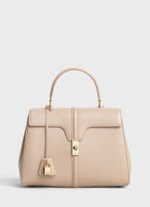 Celine Nude Satinated Calfskin Medium 16 Bag