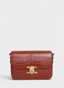 Celine Tan Crocodile Medium Triomphe Bag