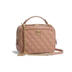 Chanel Beige CC Vanity Case Small Bag