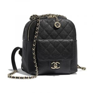 Chanel Black CC Day Backpack Bag