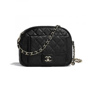 Chanel Black CC Day Camera Case Bag