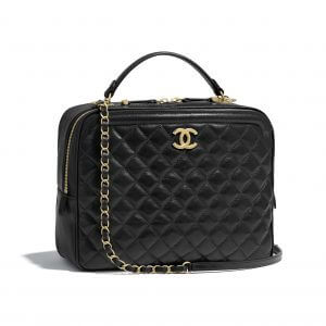 Chanel Black CC Vanity Case Large Bag
