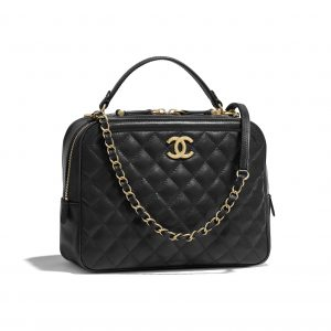 Chanel Black CC Vanity Case Medium Bag