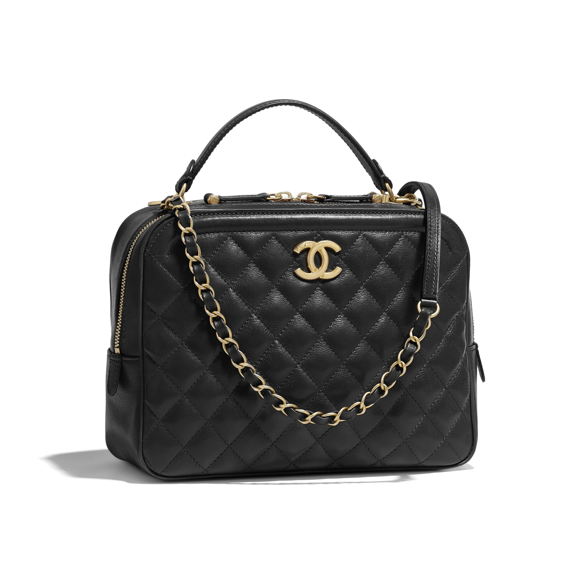 Chanel Cc Quilted Vanity Case Reference Guide Spotted
