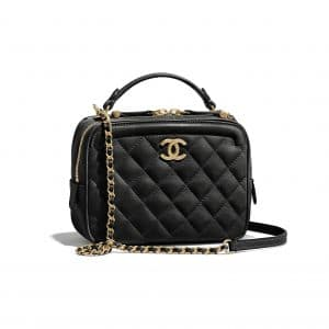 Chanel Black CC Vanity Case Small Bag