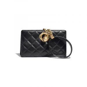 Chanel Black Evening By The Sea Clutch Bag