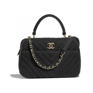 Chanel Black Jersey Trendy CC Bowling Bag