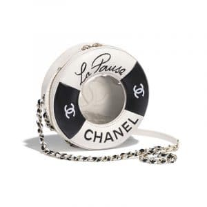 Chanel Black/White Coco Lifesaver Round Bag