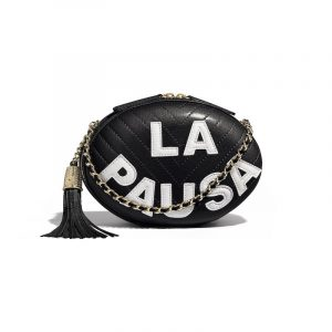 Chanel Black/White La Pausa Evening Bag