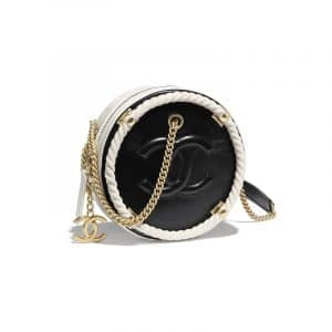 Chanel Black/White Two-Tone En Vogue Small Round Crossbody Bag