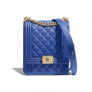 Chanel Blue Boy North/South Flap Bag