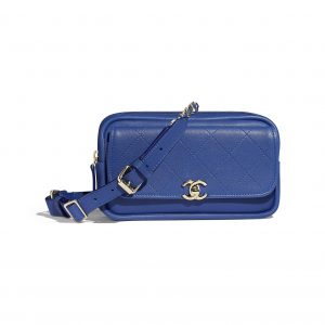 Chanel Dark Blue Casual Trip Waist Bag