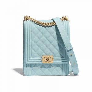 Chanel Light Blue Boy North/South Flap Bag